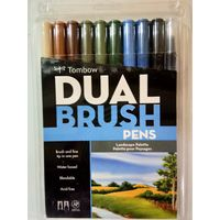 Tombow Dual Brush Pen 10 Shades (ABT-10C LA)