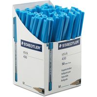 Staedtler Stick Medium Ballpoint Pen in Dispenser (45 Blue & 45 Black)