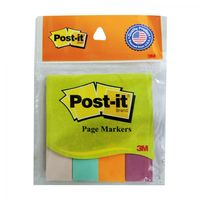 3M Post it Page Markers, 4 Colours, 0.75 X 3 inches, Pack of 2