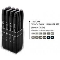 Shinhan Touch Twin Marker Warm Grey (Set of 12) (1101201)