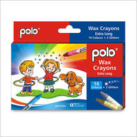 Polo Wax Crayons 16 Colours+ 2 Colours