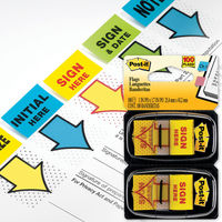 3M Post it Sign in here Flags - 2 Colours, Pack of 6