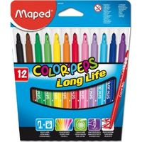 Maped Color Peps Long Life Felt Tip Pen, 12 shades