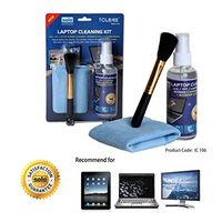 Solo IC- 106 Twin Clean (Screen Cleaner+ Wonder Cloth+ Brush) - Multi-Color