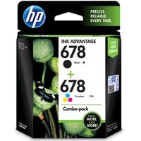 HP 678 Combo Ink Cartridge Pack (Tri Colour & Black - LOS24AA)