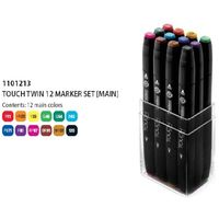 Shinhan Touch Twin Marker Assorted (Set of 12) (1101213)