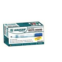 Hauser H6002 Whiteboard Marker, Red (Pack of 4)