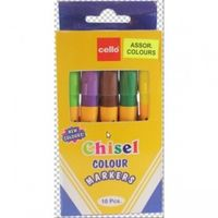Cello Chisel 10 colour marker set