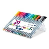 Staedtler Triplus Fineliner Pen (Pack of 20 colors) 334 SB20