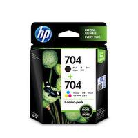 HP 704 Combo Ink Cartridge Pack (Black & Tricolour- F6V33AA)