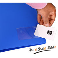 Solo Busniess Card/Label self Adhesive Pockets