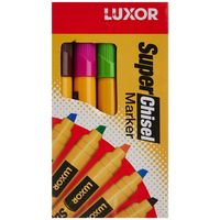 Luxor Super Chisel Marker (Yellow, 10 Pcs)