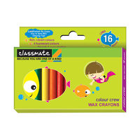 Classmate Wax Crayons - 16 Colours, Pack of 4