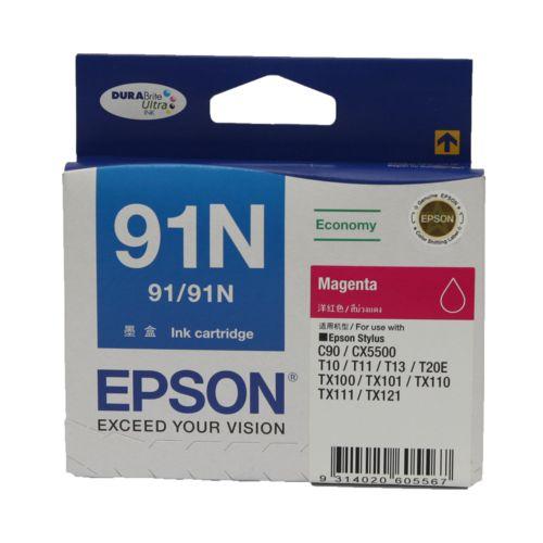 Epson 91N Magenta Ink Cartridge C13T107390