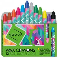Navneet Youva Wax Crayons 12 Shades 35033 (Pack of 10)