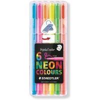 Staedtler Triplus Fibre Tip Pen Neon Colors 6 Shades (323 SB 6CS1)