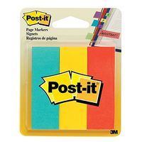 "3M Post it Page Markers - 150 Sheets, 1"" X 3"" , Pack of 2"