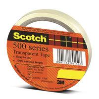 "3M Scotch 3"" Transparent Tape - 18mm, Pack of 12"