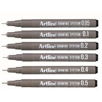 Artline Drawing Pen (Set of 8, 0.05mm -0.7mm)