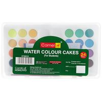 Camel Student Water Color Cakes (24 Shades, Plastic Box)