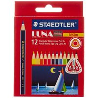 Staedtler Luna Triangular Water Color Pencil Half Size 12 Shades (137 01 TC 12ABS)