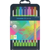 Schneider Line-Up Fineliner Pen (Pack of 8, Multicolor)