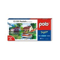 Polo Oil Pastel 15 Colours With Scratcher