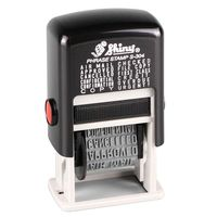 Shiny S-304 Self Inking Stamp 12 in 1 Rubber Stock Phrase Stamp