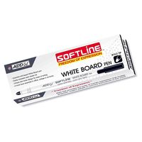 Add Gel Softline White Board Pen (Black, 10 Pcs), black