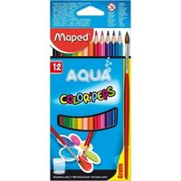 Maped Aqua Color Peps Water Colour Pencils, 12 Shades
