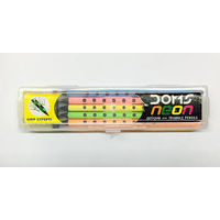 Doms Neon Groove Slim Triangle Pencil (Pack of 20)