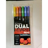 Tombow Dual Brush Pen 6 Shades (ABT-6C PR)