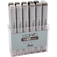 Copic Markers Tonal Gray Set (12 Colours, TG12)