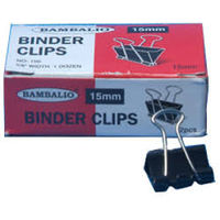 Bambalio Binder Clips 15 mm (Pack of 12Pcs)