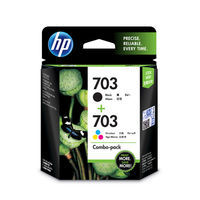 HP 703 Combo Ink Cartridge Pack (Black & Tricolour- F6V32AA)