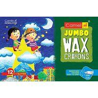 Camel Wax Crayons+ 1 Glitter Shade Free - 12 Shades