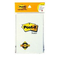 3M Post it Value Added Notes- Sqaure Ruled, 50 Sheets, 4 X 6 inches (Pack of 2)