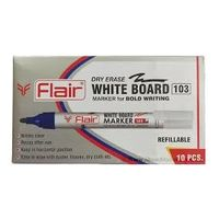 Flair White Board Markers ( Red, 10 Pcs)