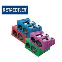 Staedtler Heavy Metal Double Hole Sharpener Assorted Colour (Pack of 1) (510 20 PR2)
