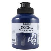 Pebeo Studio Acrylic Colour Jar 500ml Prussian Blue Hue (56)