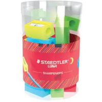 Staedtler Luna Plastic Sharpener (Pack of 24 in Cup) (510 05 LKP24)