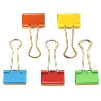 Offimart Multi Coloured Metal Binder Clips (48 Pcs)