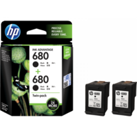 HP 680 Twin Pack Black Ink Cartridge (X4E79AA)