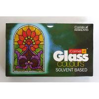 Camel Solvent Based Glass Color - Henna Green, Pack of 3
