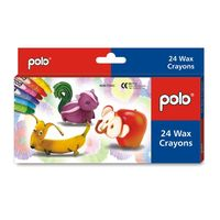 Polo Wax Crayons 24 Colours (L 75MM)