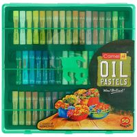 Camlin Oil Pastels, 50 shades in Plastic Box