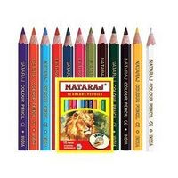 Nataraj Half Size Colour Pencils - 12 Shades (Pack of 8)