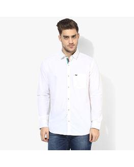 Park Avenue Solid Slim Fit Shirt, l,  white