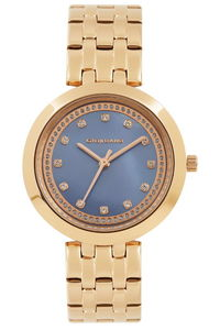 Giordano Women's's Watch Analog Display- 2821-33, rose gold, mop blue