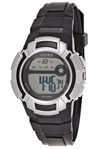 Kids Resin Band Watch - A8900, black, black, silver
